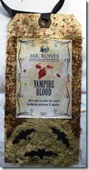 Halloween Vampire Blood Tag