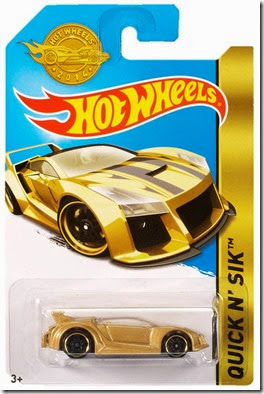 Golden Car Hot Wheels