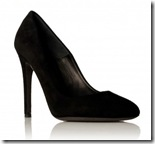 Black Suede Evening Shoes