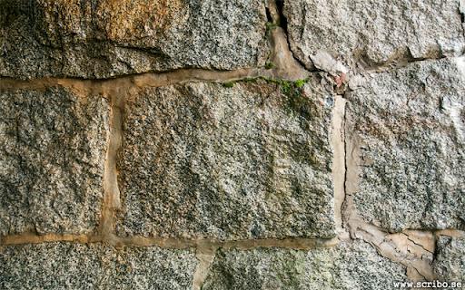 stenarbeten på västra sidan av tågron