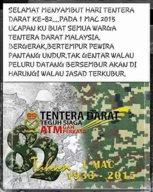 Selamat Menyambut Hari Tentera Darat Ke 82