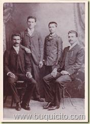 .Domenico(Domingo)Alessandro,Giuseppe(mi abuelo) y Antonio Russo Cino-Moca RD 1907