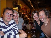Us with some Frenchies we know (and wine of course)