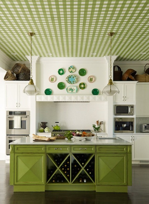 Imagine Design » Makeover Monday: Painted Blue and Green Kitchen
