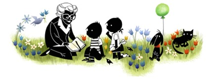100th Birthday of Annie M.G. Schmidt-Google Logo