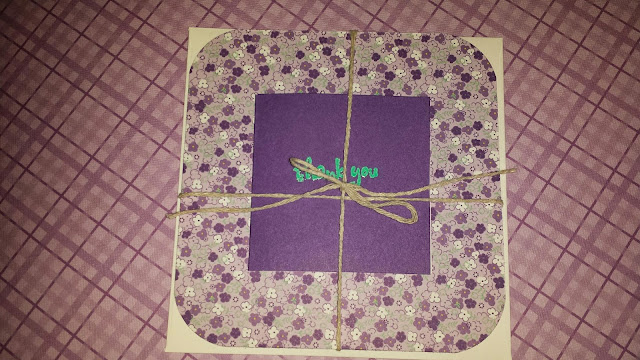 embossed handmade card
