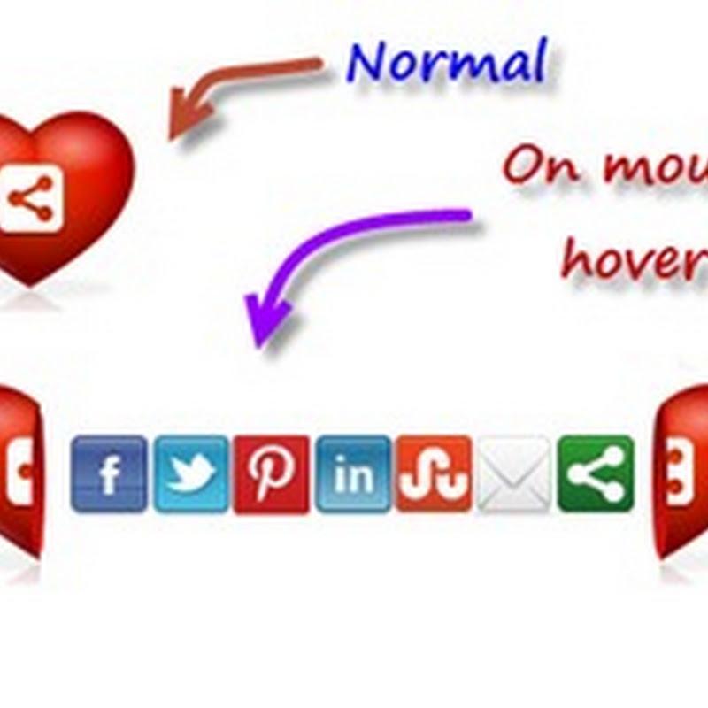 Coração Expansível com Redes Sociais