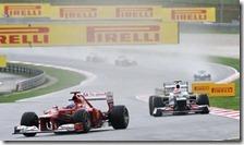 Alonso precede Perez nel gran premio della Malesia 2012