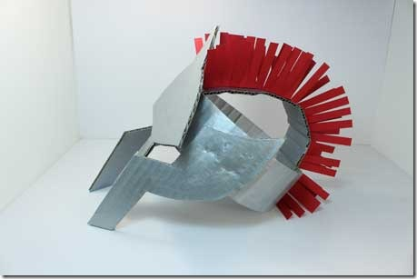 how to make a roman helmet out of cardboard youtube