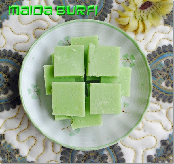Maida-burfi-sweet