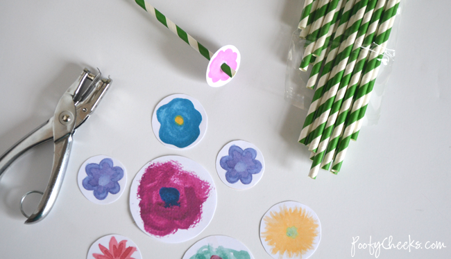 Watercolor Flower Printable - Create a Mother's Day Bouquet that won't wilt!