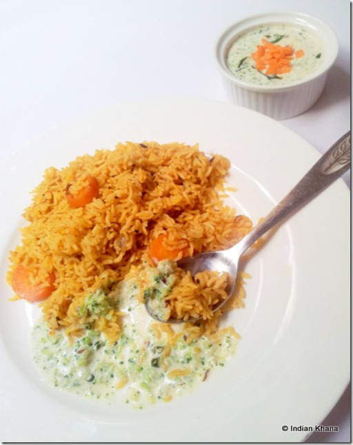 Broccoli with spcied yogurt recipe raita recipe