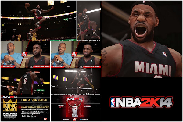 NBA 2K14  LeBron James Meets 8220Video Game James8221