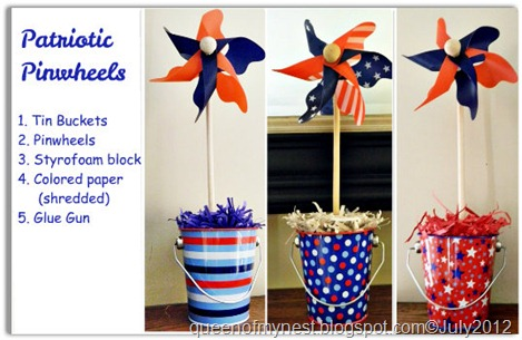 Patriotic Pinwheel Collage
