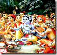 [Krishna with friends]