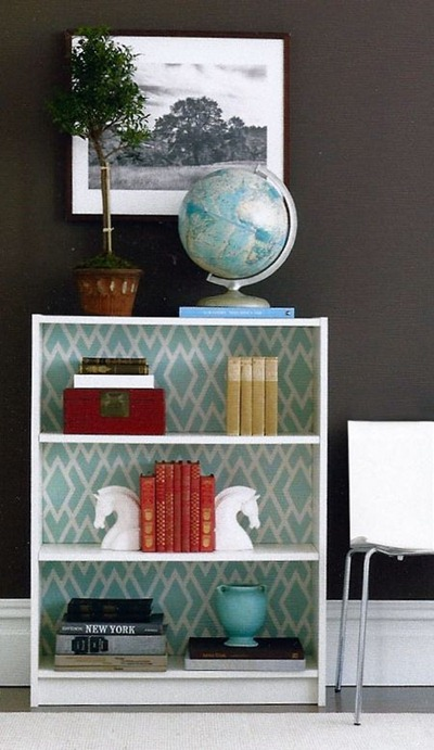 fabric covered bookcase tutorial