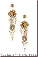 Large Stone Chandelier Earrings