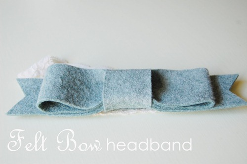 DIY felt bow headband