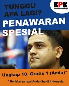 Special Offer untuk Nazaruddin: Ungkap 10, Gratis 1 (Anda)
