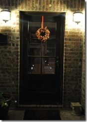 Fall wreath door