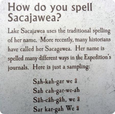 Sacajawea spelling