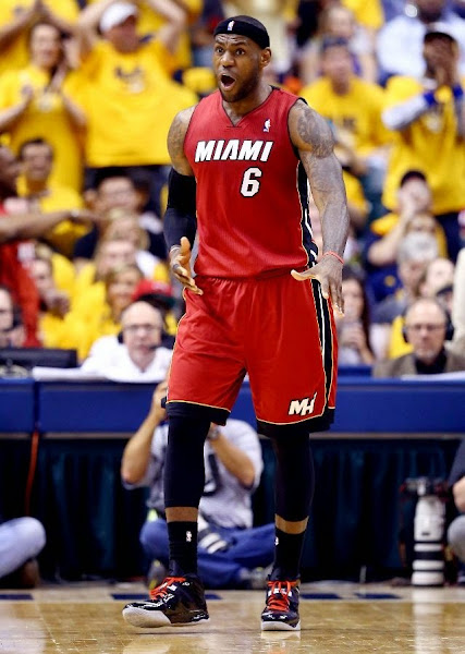 lebron james nba 140518 mia at ind 29 game 1 Balanced Pacers Drop LeBron and the Heat in Series Opener