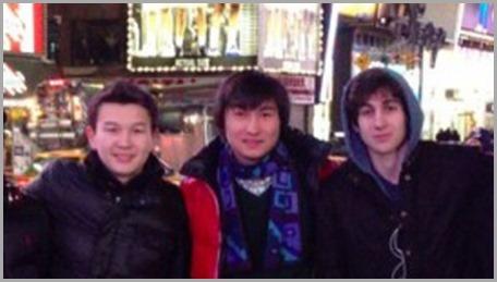 Azamat Tazhayakov (L), Dias Kadyrbayev with Boston Marathon bombing suspect Dzhokar Tsarnaev.