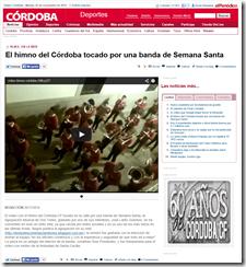 El himno del Córdoba tocado por una banda de Semana Santa   Deportes   Diario Córdoba 24-11-14