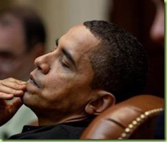obama asleep