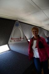 Helen at the top of Gateway Arch...St Louis, Missouri