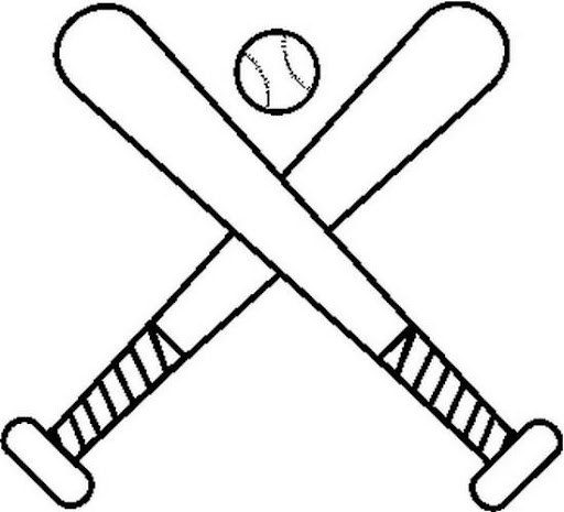 coloring pages of baseball bats - photo#5