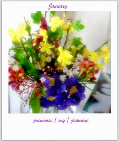 Jasmine, Primrose, Ivy, Viburnam, Wallflower