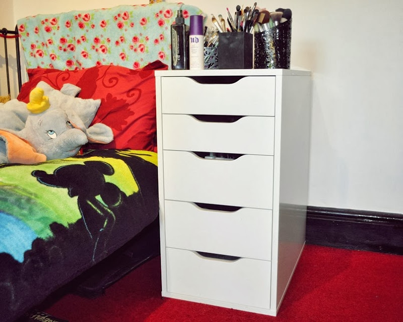 ikea alex makeup storageedit
