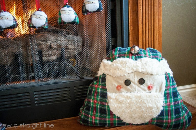 santa face pillows sew a straight line-2-2