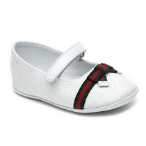 Gucci Leather Luxury Pre-Walker BALLERINA SHOES