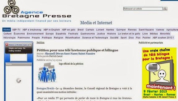 TV bretona manifestacion e peticion