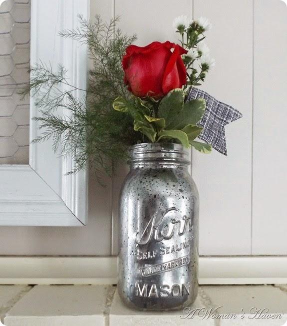 Mercury Glass Mason Jars @ http://onewomenshaven.blogspot.com/