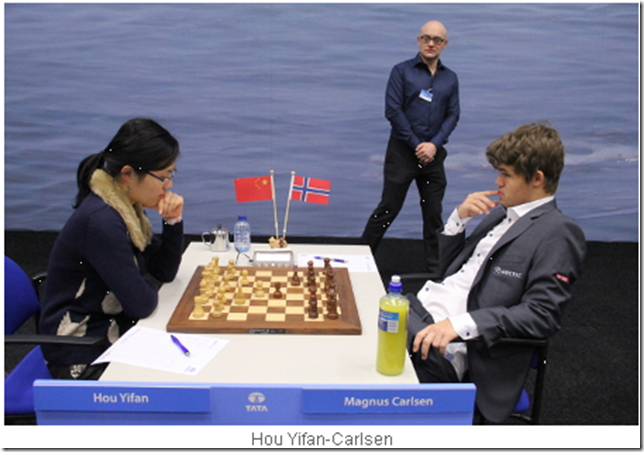 Hou Yifan vs Carlsen, Round 9, Tata Steel Chess 2013
