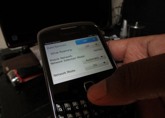Mematikan layanan data di handset BlackBerry Curve 3G