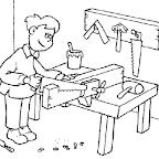Dibujo Dia del Trabajador - Carpintero