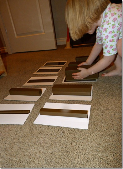Matching Brown Stairs to Cards