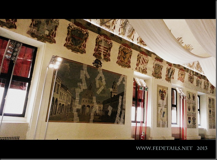 Dentro al Castello Estense, La sala degli Stemmi, Foto4, Ferrara, EmiliaRomagna,Italia - Inside the Estense Castle, The Hall Coat of Arms, Photo4, Ferrara, EmiliaRomagna, Italy - Property and Copyrights of FEdetails.net
