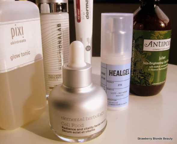 Elemental-Herbology-serum,healgel-eye,antipodes-juliet,pixi-glow-tonic,functionalab-moisturiser