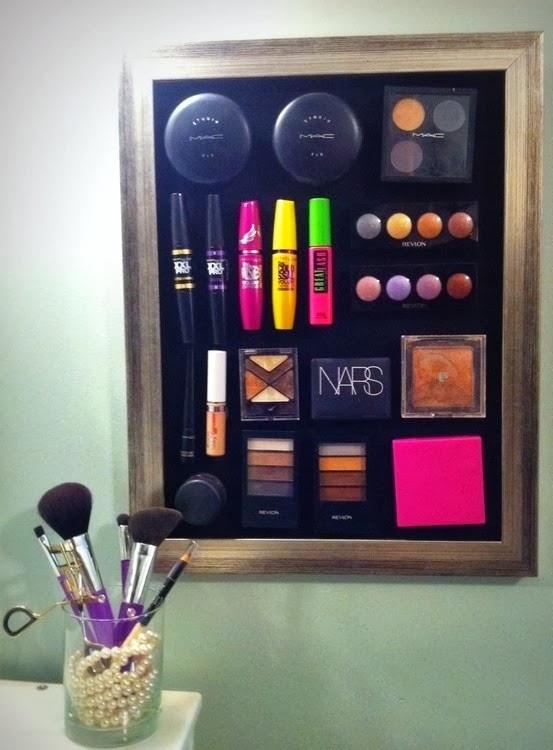 organizar maquiagem quadro ima magnetico