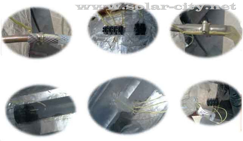 homemade solar water heater - -thermocouple- solar city