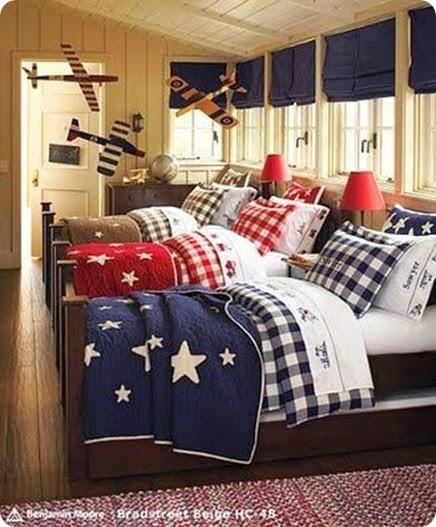 buffalo chek bedroom blue