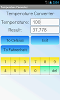 Screenshot of Temperature Converter