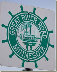 Great river road sign Minnesota