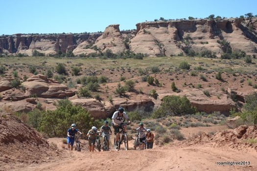 Waiting for mountain bikers