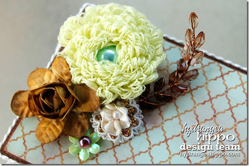 Recipe Box_Heather Landry_Hydrangea Hippo_Beaded Spray_Flower_Fringe_Smooch
